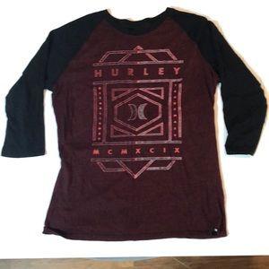 Men's Hurley premium fit LS shirt, size large